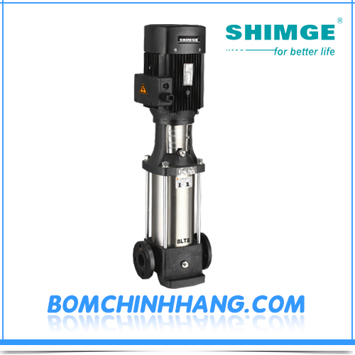Máy bơm ly tâm trục đứng đầu gang Shimge BLT2-15 1.5 KW